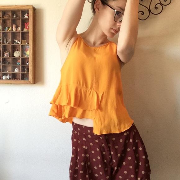 Zara Tops - Zara WBB Collection Summer Sunrise Orange Crop Top